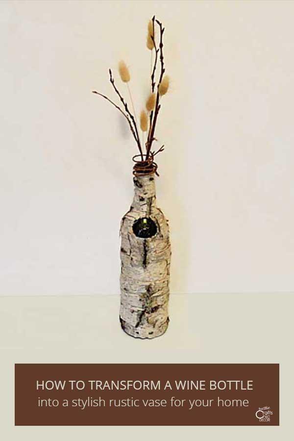 rustic wine bottle craft