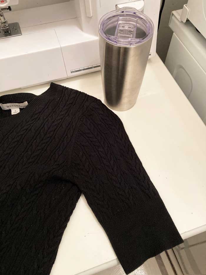 sweater used for coffee sleeve