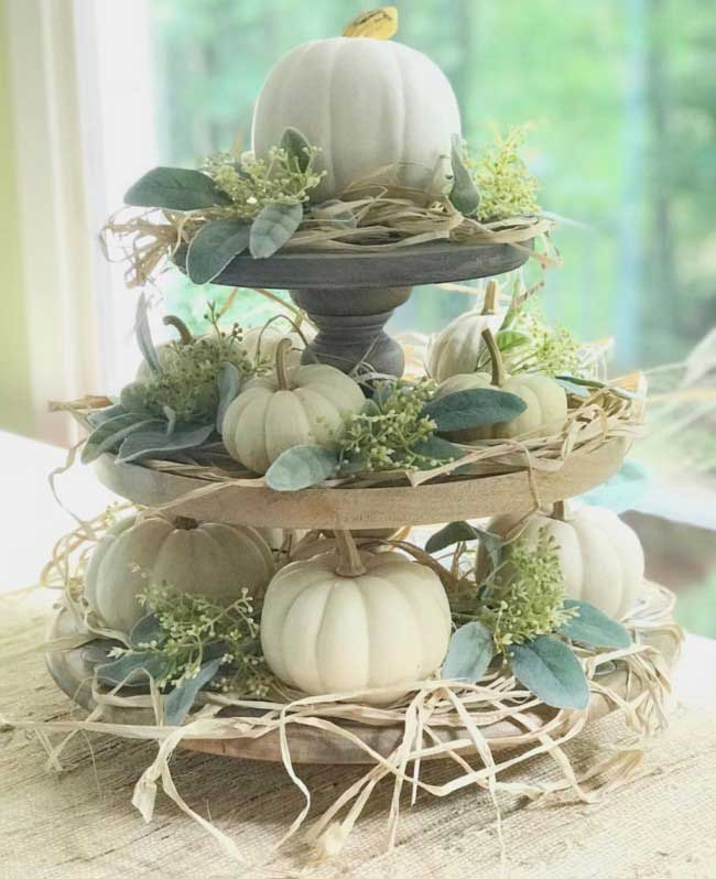 tiered tray thanksgiving centerpiece
