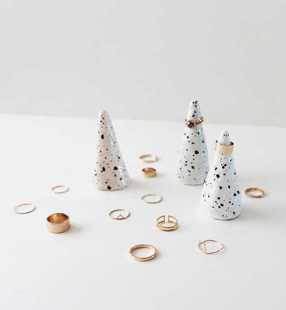 diy faux ceramic ring holder cones