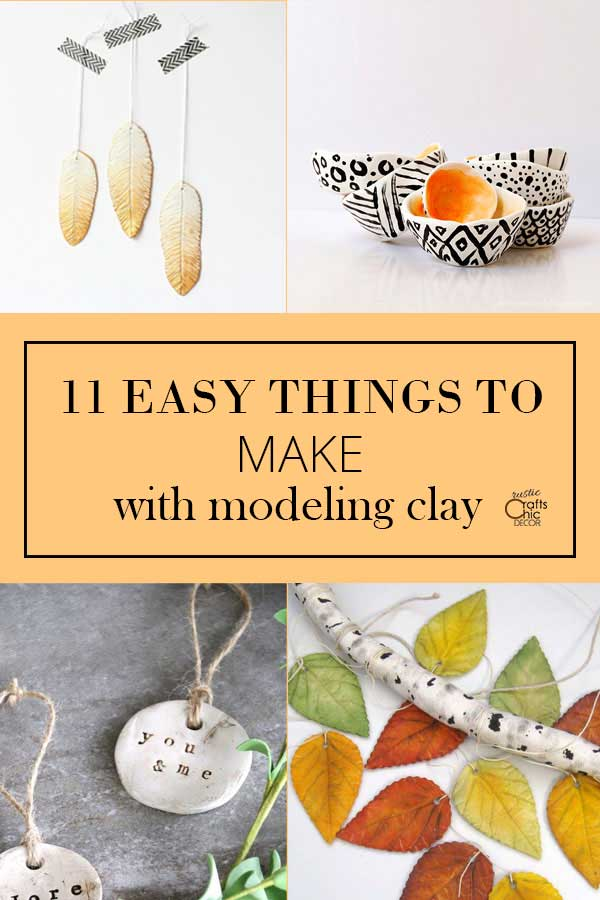 easy things to make with modeling clay
