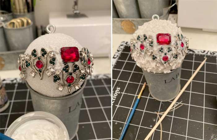 jewelry snow ball ornament