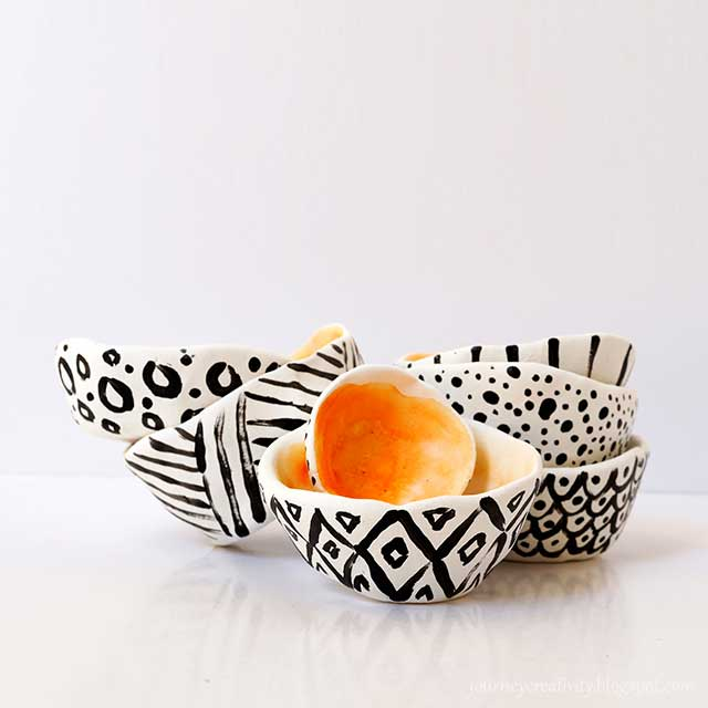 modeling clay doodle bowls