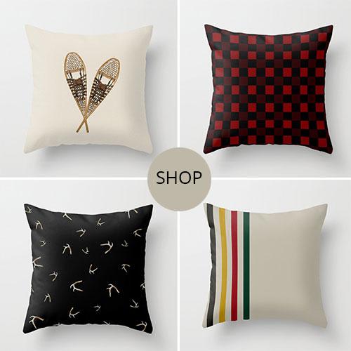 shop winter throw pillows