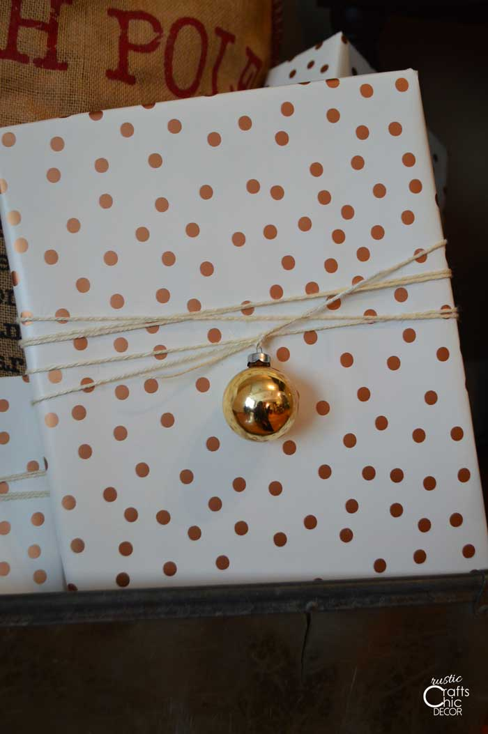 decorate gift packages with extra ornaments