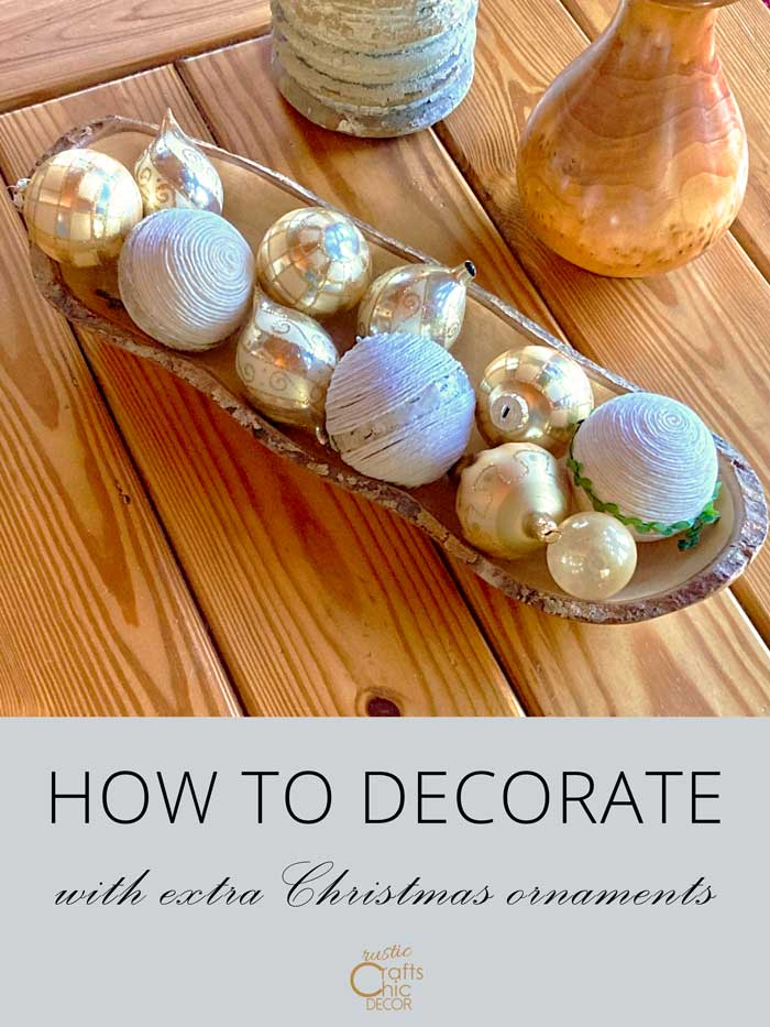 how to decorate with extra ornaments