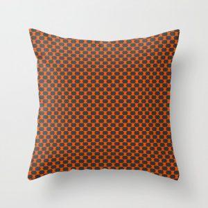 orange and gray pillow pattern