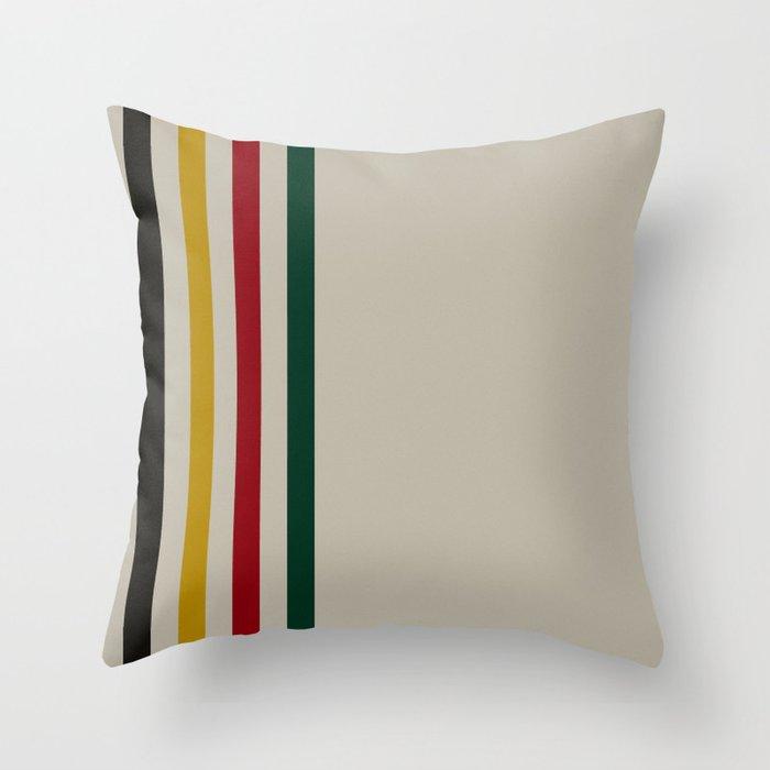 trapper stripes winter throw pillow