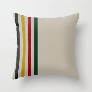 trapper stripes pillow