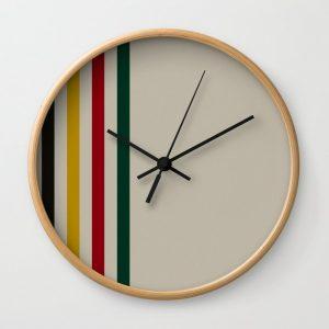 trapper stripes clock
