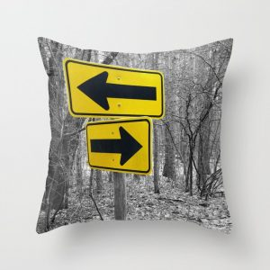 directional signs throw pillow