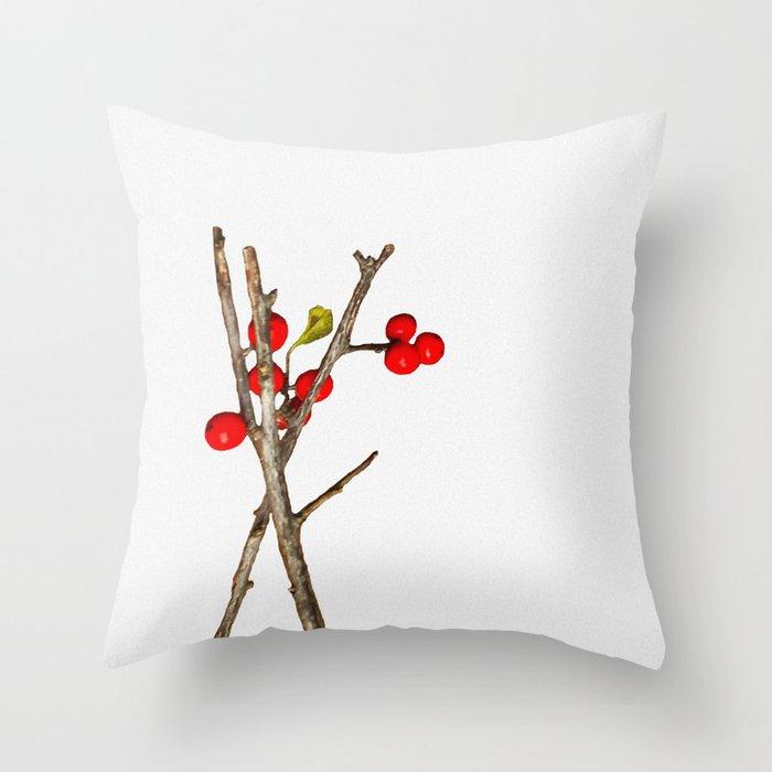 winter berries winter pillow
