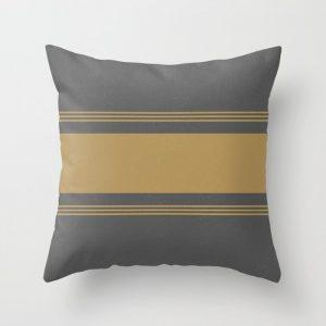 yellow and gray grainsack pillow