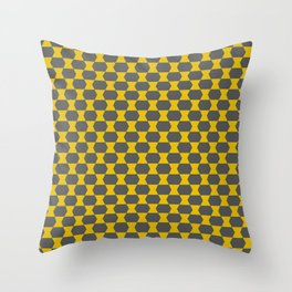 yellow and gray pillow