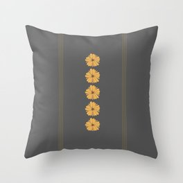 yellow and gray flower pillow