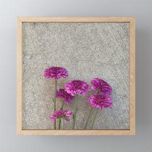flower and concrete art print