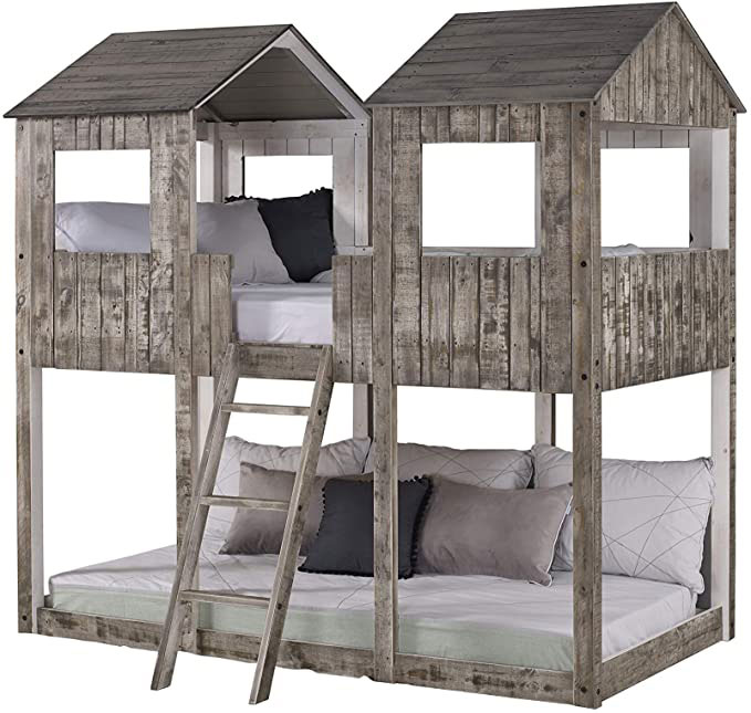 rustic fort style bunks