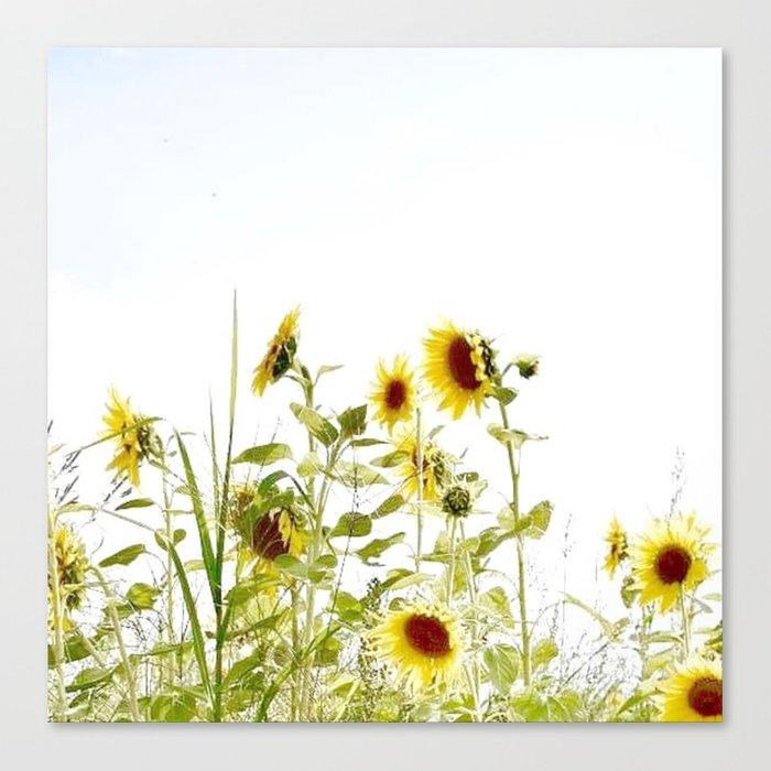 sunflower wall art canvas