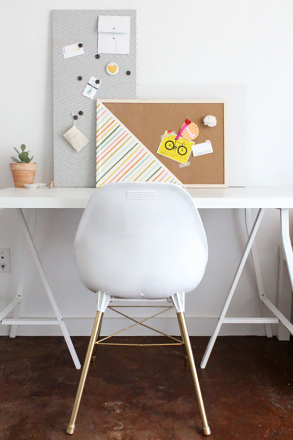 diy fabric covered magnetic board