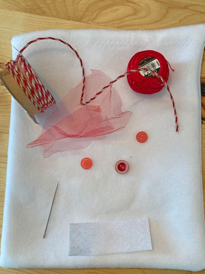 diy valentine bag supplies