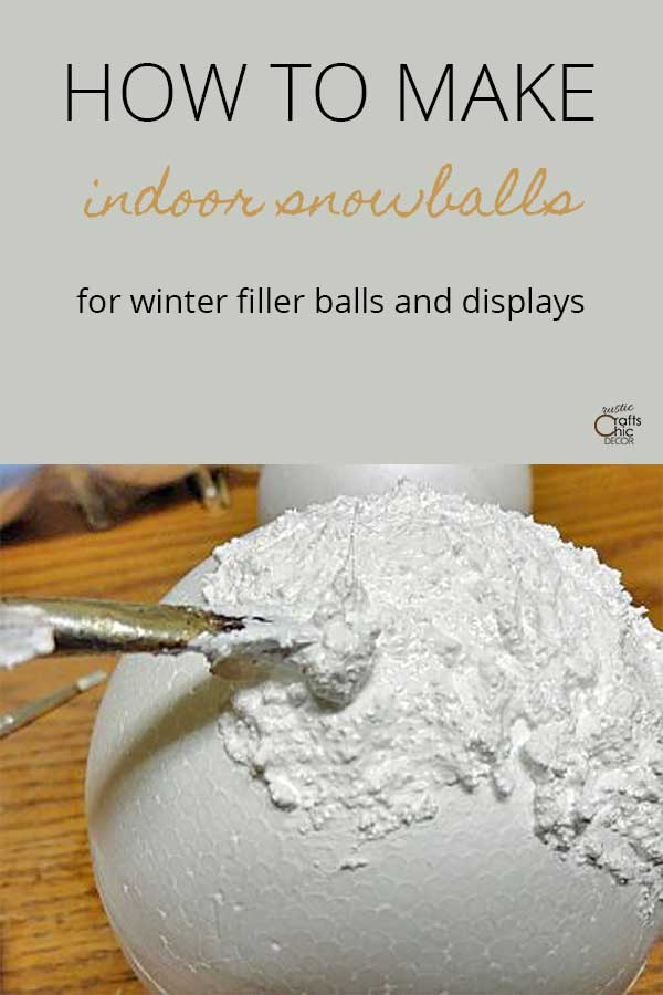 how to make indoor snowballs