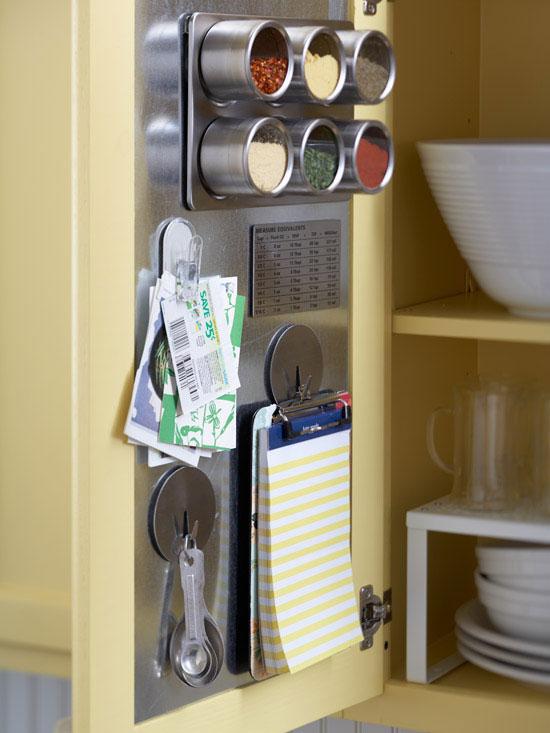 magnet board inside cabinet door