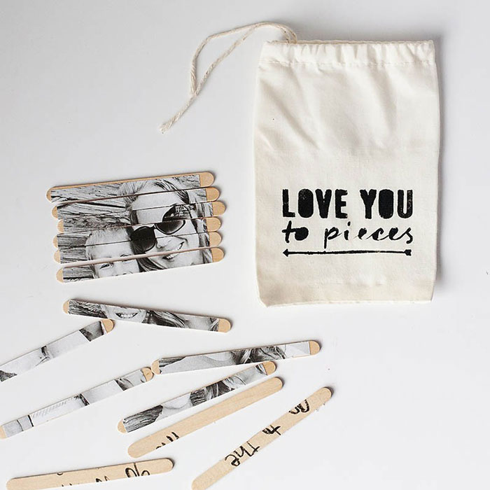 love you to pieces bag