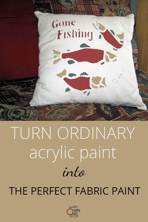 using acrylic paint on fabric