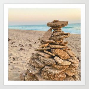 beach rock pile
