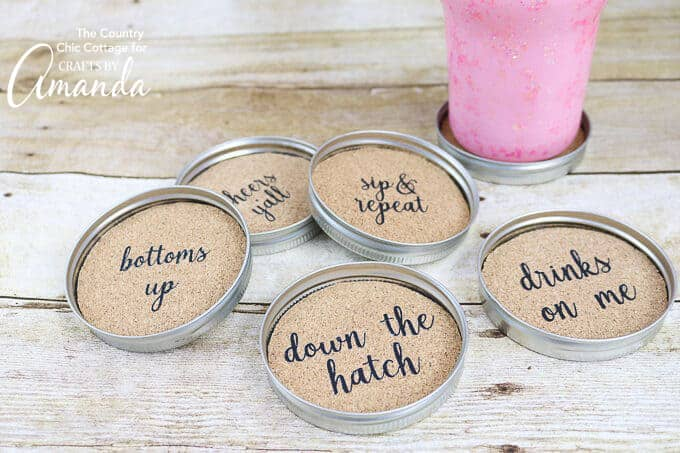 canning lid coasters