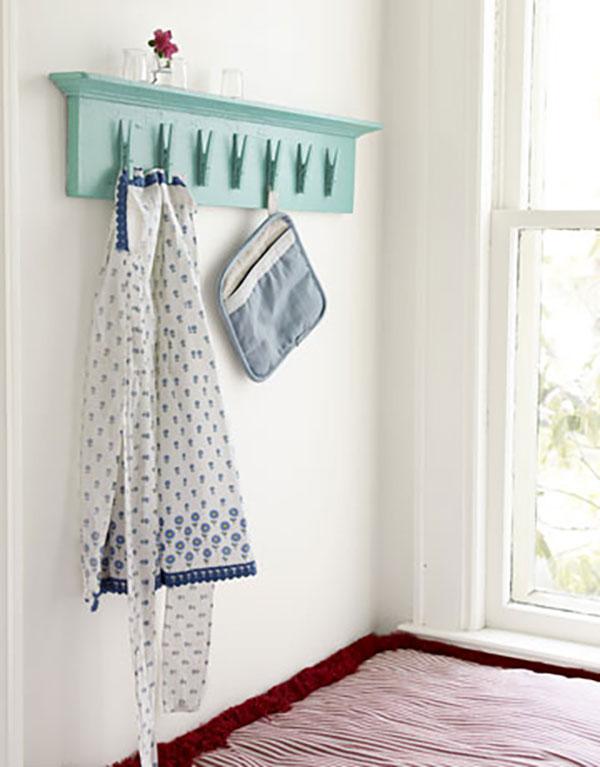 clothespin clip shelf