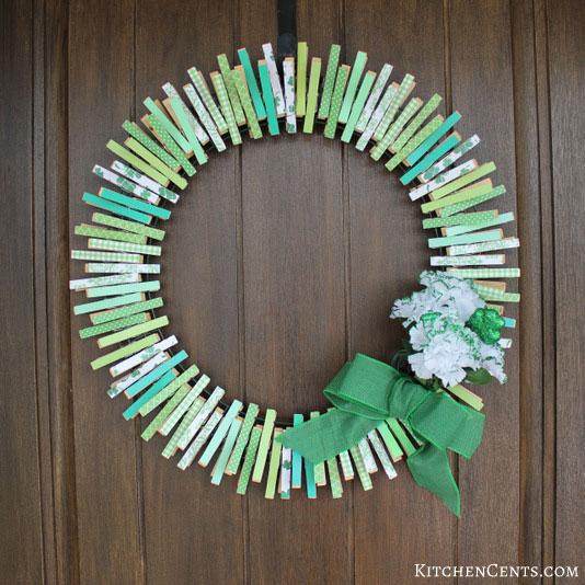 diy reversible st patricks day wreath