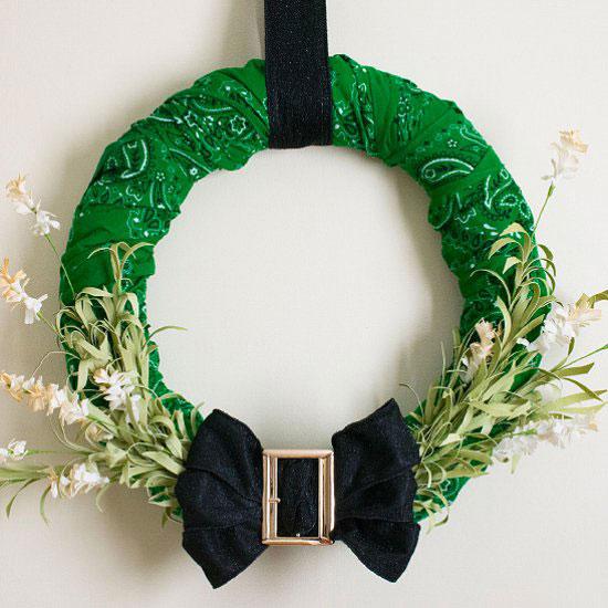 green bandana wreath