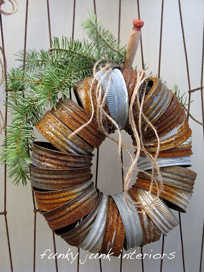 mason jar rim wreath