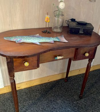 rustic entryway table decor feature