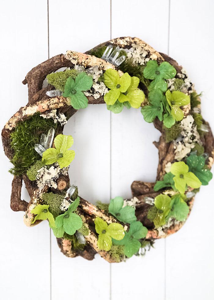 rustic natural st patricks day wreath