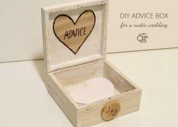 rustic wedding advice box