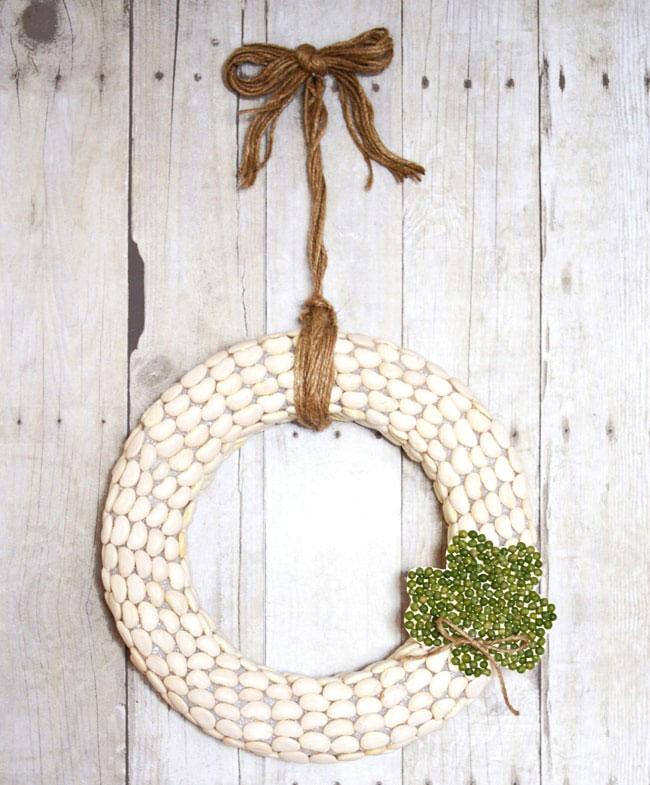 split pea shamrock wreath