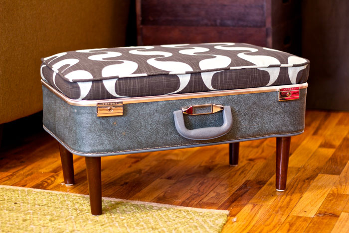 diy suitcase ottoman
