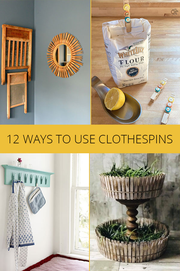 what to do with clothespins