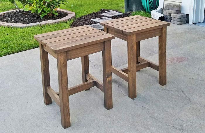 diy outdoor side tables