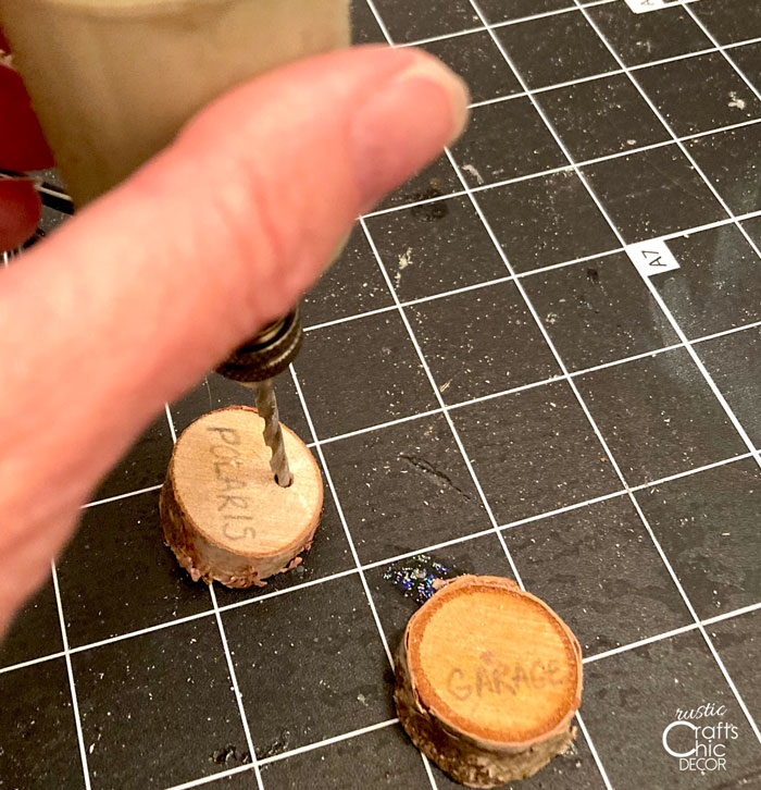 drilled holes for keychain