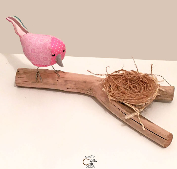 cottagecore fabric bird