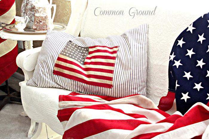diy flag pillow