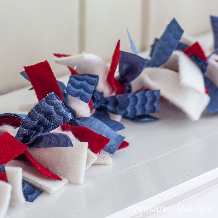 red white and blue garland