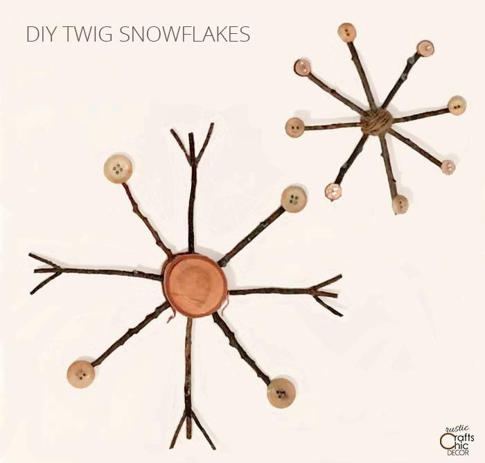 diy twig snowflakes