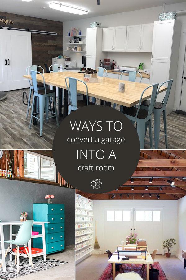 garage craft room ideas