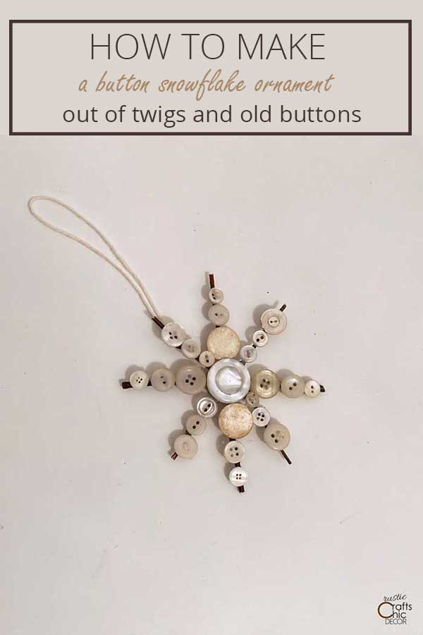 twigs and buttons snowflake