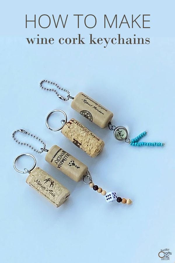 how to make wine cork keychains