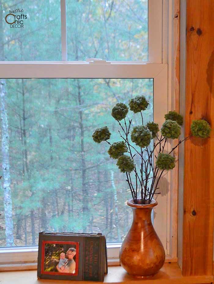 pom pom twig bouquet